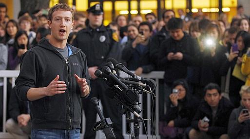 La fortuna de Zuckerberg cayó desde US$16,200 millones el 25 de mayo hasta US$14,700 millones ayer.