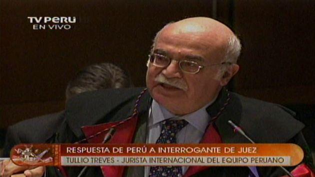 El abogado italiano se remontó al derecho internacional de esa época (TV Perú)