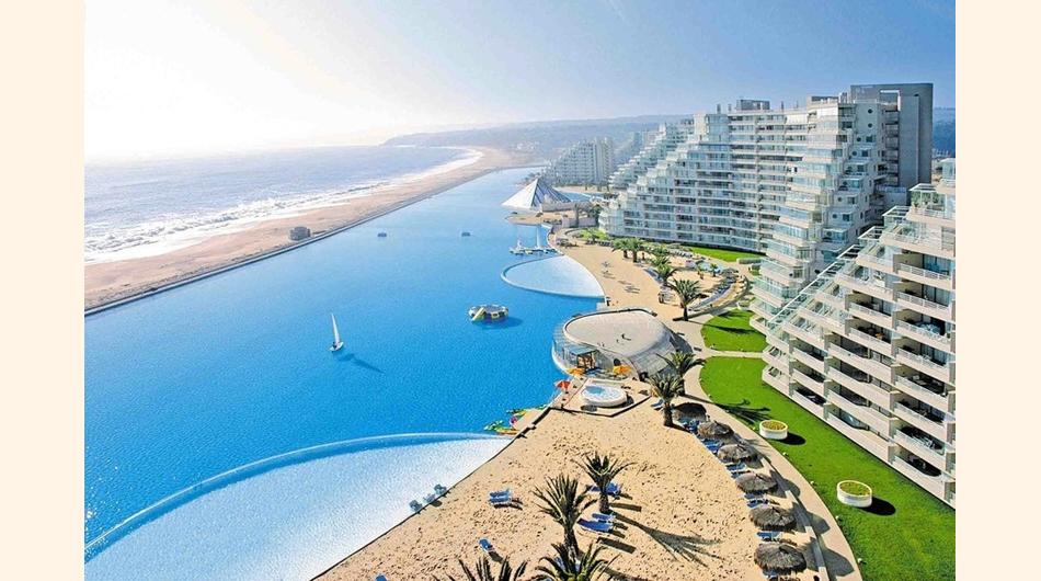 Disfrute de la piscina m s grande del mundo en san alfonso for Piscina mas grande del mundo chile