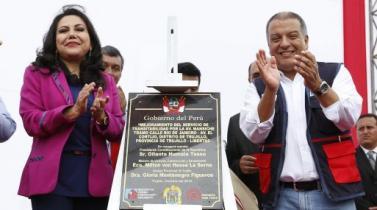 MVCS inaugura obras de mejora en pistas y saneamiento por S/. 20 millones en Trujillo