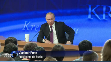 Putin promete recuperación económica de Rusia en dos años