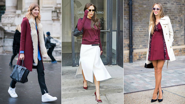 moda claves para usar el marsala o el color del 2015 tendencias