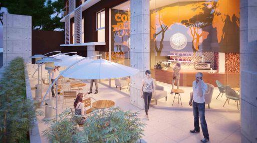 Area comercial del edificio Boem de Edifica. (Foto: Edifica)