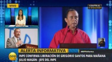 Gregorio Santos tendrá que esperar hasta mañana para salir de la cárcel