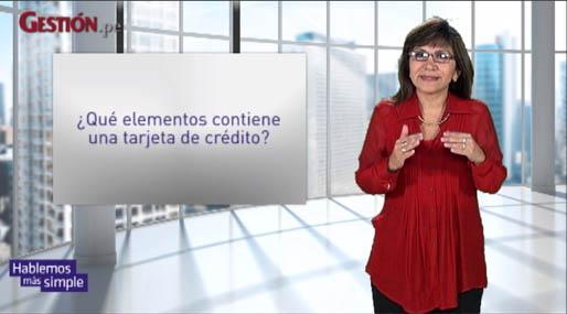 ¿Qué elementos contiene una tarjeta de crédito?
