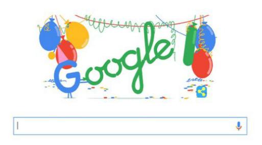 """Resultado de imagen para Aniversario del Buscador mas Importante de Internet """"Google"""""""