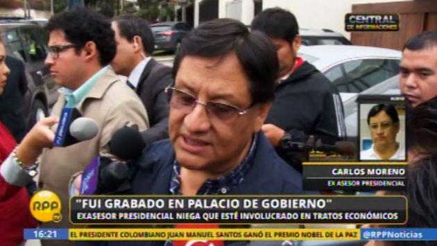 Primera Fiscalía Anticorrupción recibió denuncia — Caso Carlos Moreno