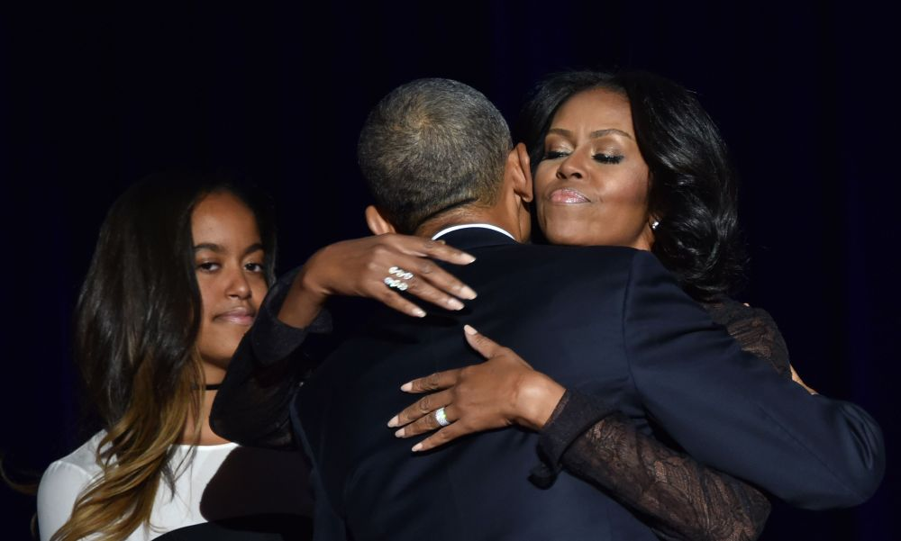 Barack Obama con Michele