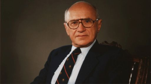 Economista Milton Friedman.