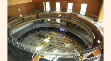 La sala de conciertos Pierre Boulez en construcción en septiembre de 2016 en la Academia Brenmoboim-Said en Berlín. (foto:SOEREN STACHE/AFP/Getty Images).