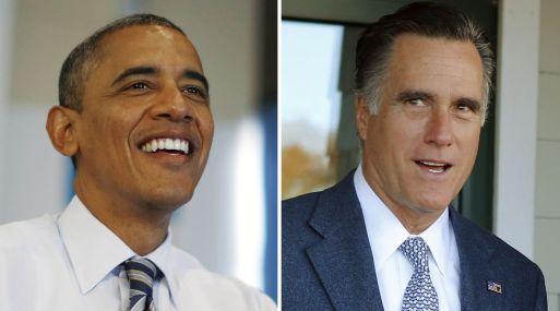 <strong>Reñida lucha.</strong> Sondeos nacionales muestran a Romney y Obama en un empate virtual. (Reuters)