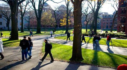 El campus de la Universidad de Harvard (The Guardian)