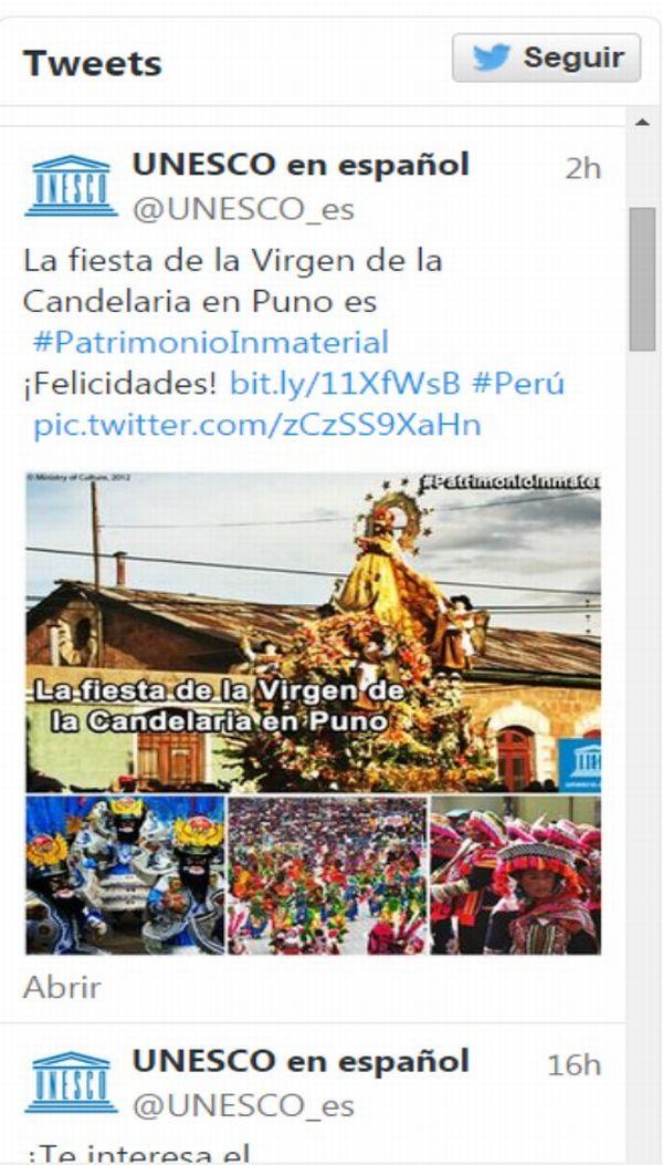 Unesco: Fiesta de la Virgen de la Candelaria es patrimonio cultural de la humanidad
