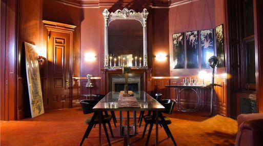 El cambiante comedor en el Apartment 46. Foto: Warburg via Bloomberg