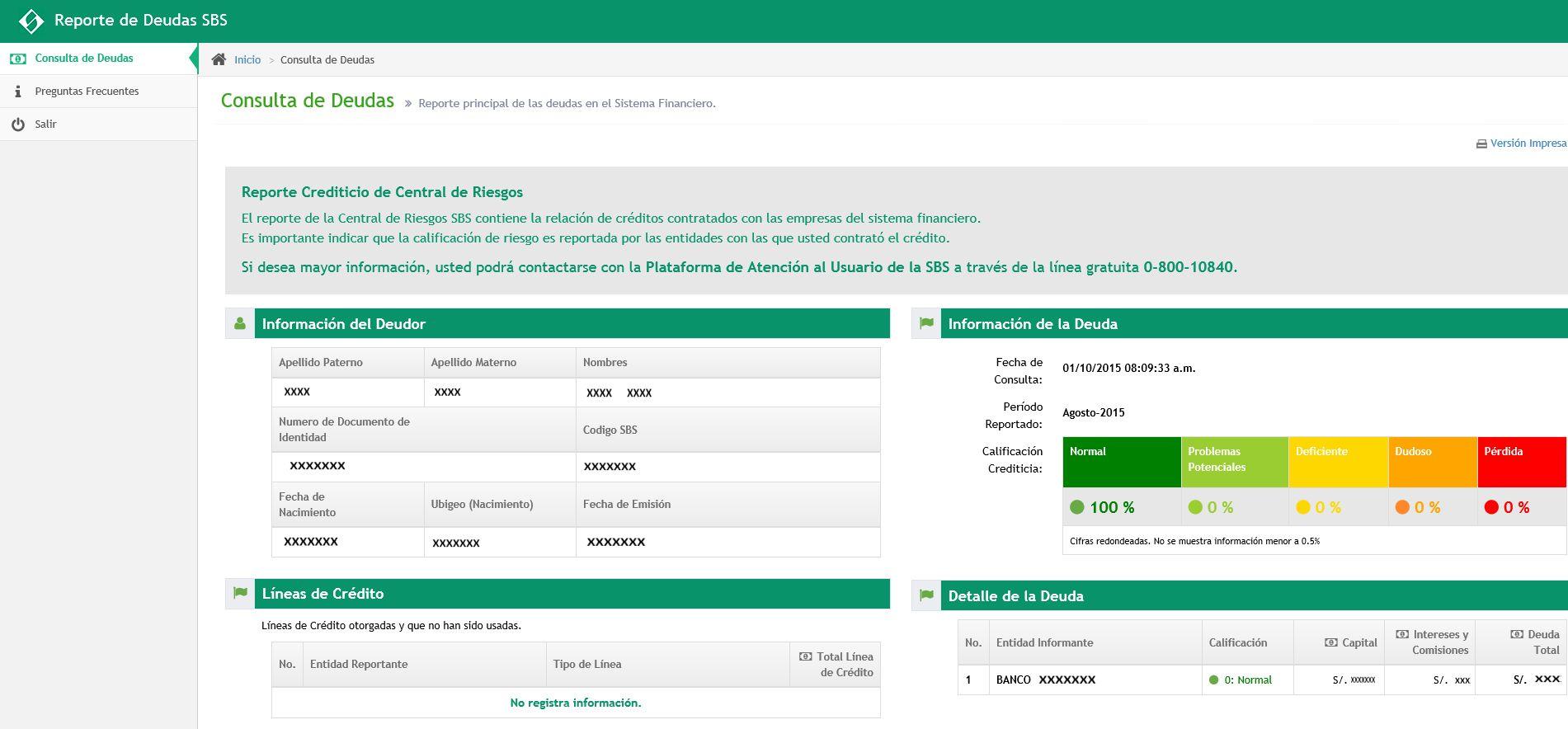 Conoce si registras alguna deuda en el sistema financiero con este app web