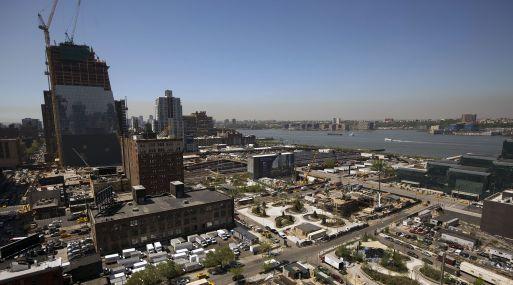 El proyecto Hudson Yards en construcción en Nueva York. (Foto: Bloomberg)