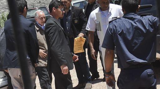 Eugenio Figueredo llega a la corte de Montevideo. (Foto: AFP)