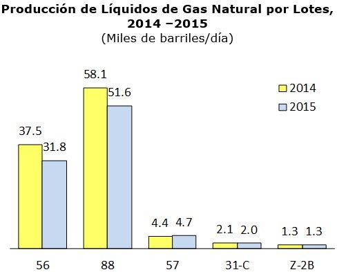 Producción peruana de hidrocarburos líquidos cayó 13.5% en el 2015