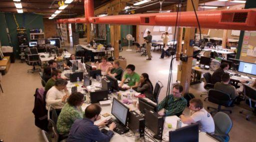 Una imagen de Menlo Innovations, donde las contrataciones se votan entre los empleados.