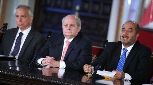 Pérez Guadalupe participó en una conferencia de prensa junto a otros ministros. (Foto: Andina)