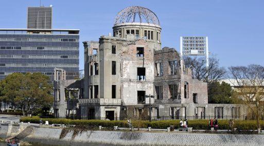 Restos de uno de los edificios destruidos por la bomba atómica lanzada por Estados Unidos contra Hiroshima en 1945 para forzar la rendición de Japón y el fin de la Segunda Guerra Mundial. (Foto: AFP)