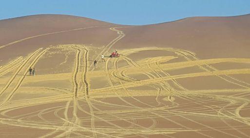 El área afectada se ubica aproximadamente a unos 500 metros al norte de El Candelabro, habiéndose estimado un área afectada en el paisaje de 100 metros de alto por 500 metros de ancho sobre la cumbre del cerro.