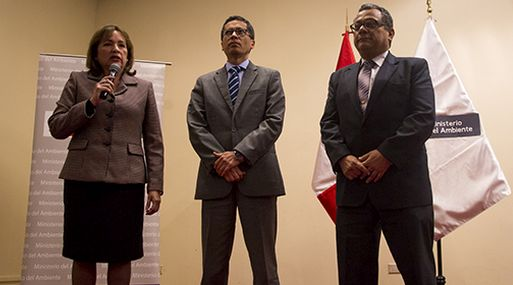 La ministra Galarza presentó a Fernando León, en el viceministerio de Desarrollo Estratégico de los Recursos Naturales; y Marcos Alegre, en el viceministerio de Gestión Ambiental.