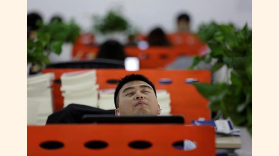 trabajadores, china