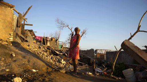 Huracán Matthew en su paso por Haití. (Foto: AP)