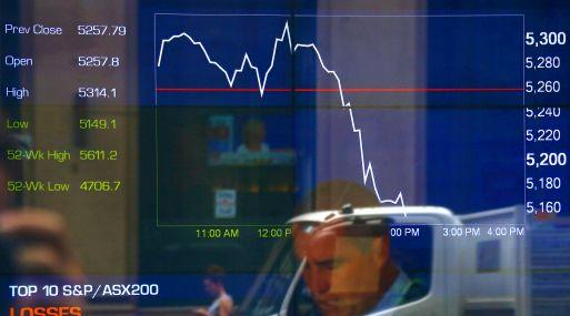 Indicadores caen en la Australian Securities Exchange (ASX) en Sydney, Australia. (Foto: Reuters)