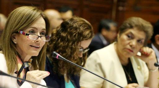 La ministra Martens sustentó ayer el proyecto de ley en el Congreso (foto: Andina).