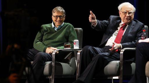 Bill Gates y Warren Buffett. (Foto: AFP)