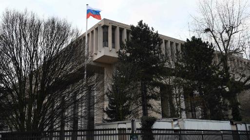 Embajada de la Federación Rusa en París. (Foto: AFP).