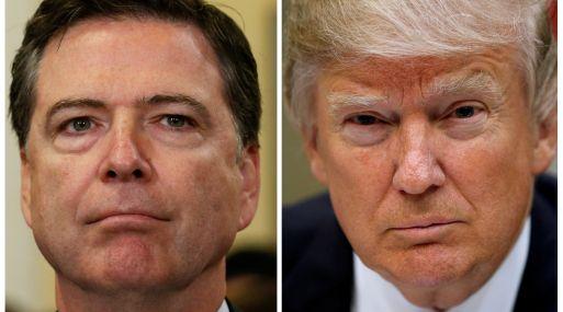 James Comey y Donald Trump. (Foto: Reuters)