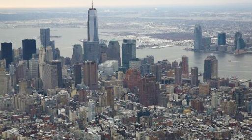 Vista aérea de Nueva York (foto: AFP).