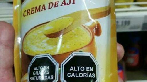 Así se etiquetan los productos en Chile (foto @JaimeSerra).
