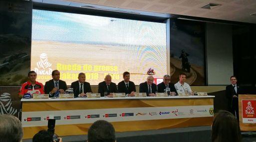 """""""Esperamos que el Rally Dakar contribuya con el crecimiento y desarrollo turístico del desierto peruano"""", dijo el ministro Eduardo Ferreyros. (Foto: Pilar Olivo)."""