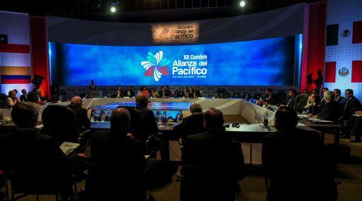 La XII cumbre de la Alianza del Pacífico se desarrola en la ciudad colombiana de Cali. (Foto: AFP)