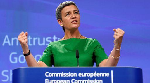 Margrethe Vestager, comisaria de Competencia de la Unión Europea. (Foto: Reuters)