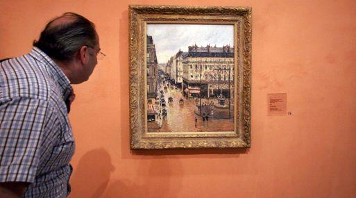 """Rue Saint-Honoré por la tarde. Efecto de lluvia"" (1897). (Foto: AP)"