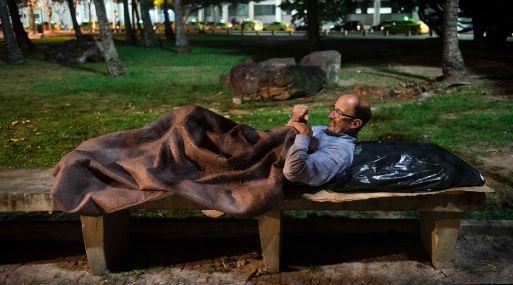 Mendonça perdió su trabajo en 2015 y se mantuvo un tiempo con ahorros. (Foto: AFP)