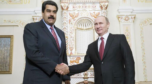 Nicolás Maduro junto a Vladimir Putin (foto: AFP).
