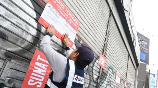La Sunat procederá con el cierre temporal de más de 1,400 locales de negocios en todo el Perú. (Foto: Sunat).