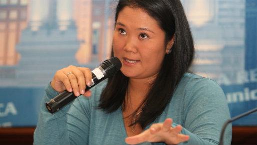 """""""Lo digo por enésima vez: ni Fuerza Popular ni yo hemos recibido dinero de Odebrecht"""", también manifestó Keiko Fujimori (Foto: Andina)."""