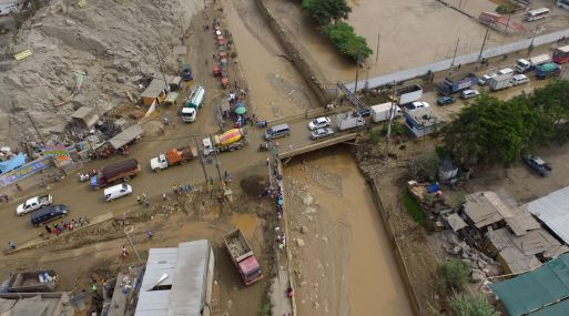 El desborde del río Huaycoloro ocasionó un Huayco que afectó la zona este de Lima en los primeros meses del 201. (Foto: Andina).