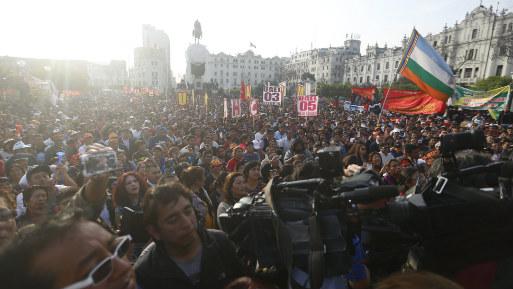 La huelga de maestros. (Foto: USI):