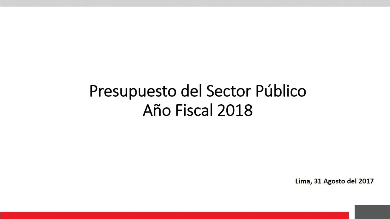 MEF, Presupuesto 2018