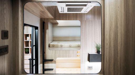 Un espacio de cama dentro de una unidad del proyecto de co-living de Bibliotheque de Synergy Biz en el districto de Yau Ma Tei de Hong Kong. (Foto: Bloomberg)