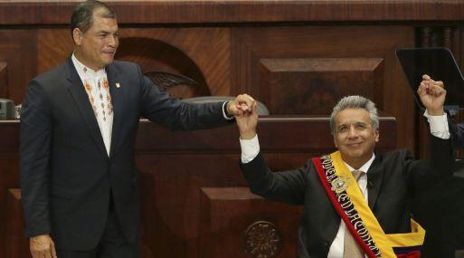 Rafael Correa y Lenín Moreno. (Foto: AP)