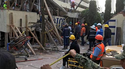 El terremoto provocó el derrumbe o daños considerables en un centenar de edificios en México. (Foto: Reuters)